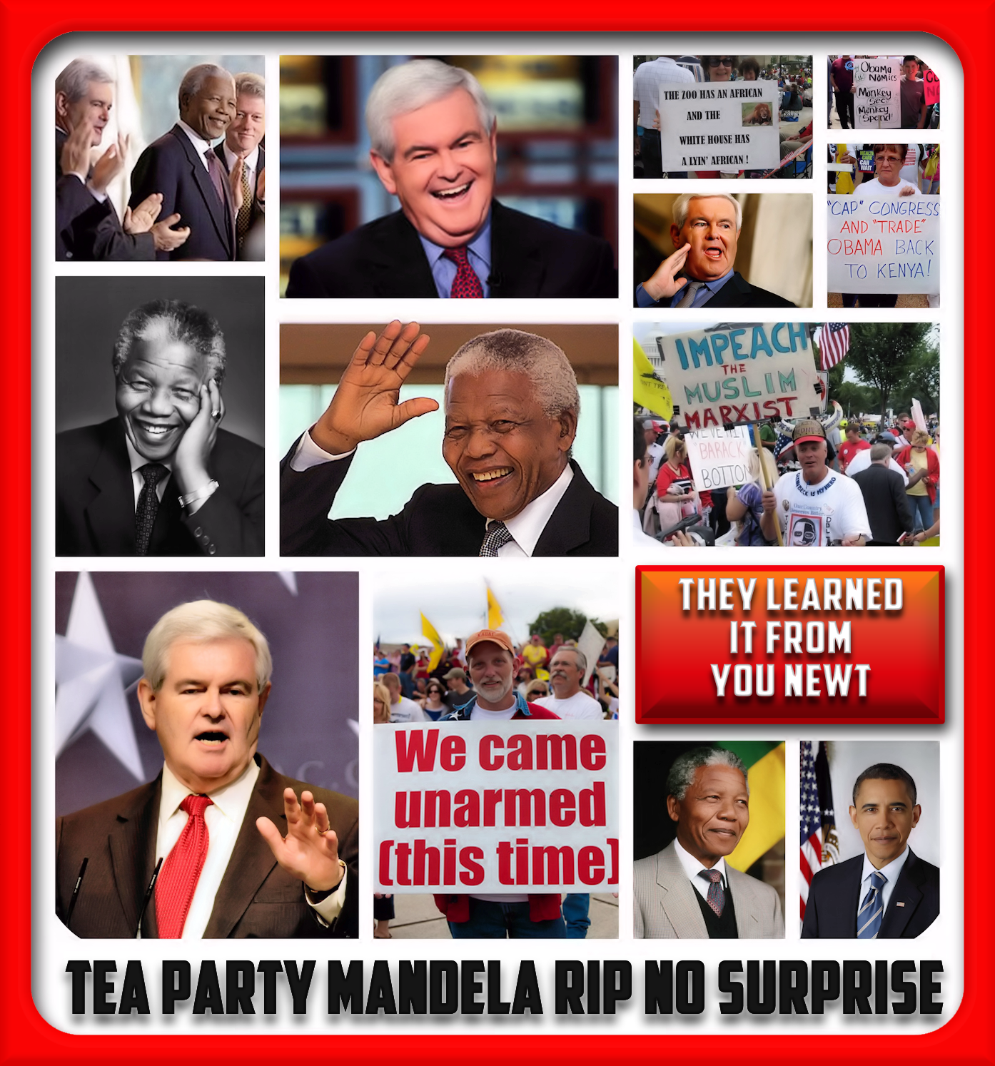 Tea Party Mandela Rip No Surprise