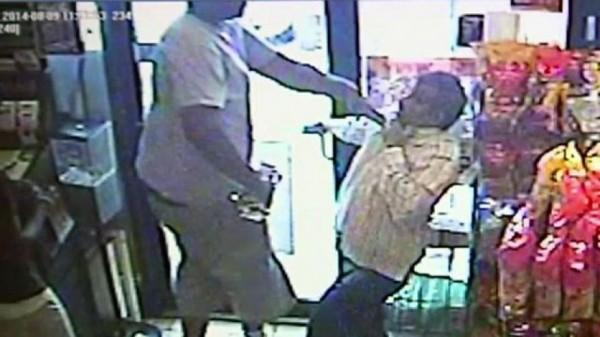 Video still of alleged robbery