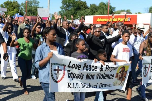 Protest following Michael Brown Jr's Death