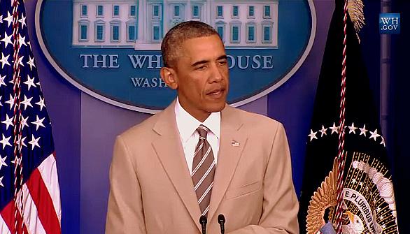 Obama's tan suit