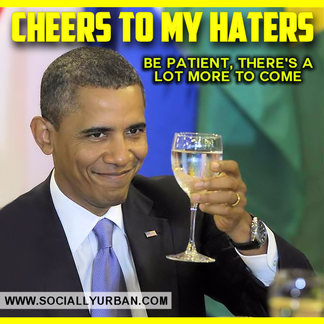 CHEERS President Obama