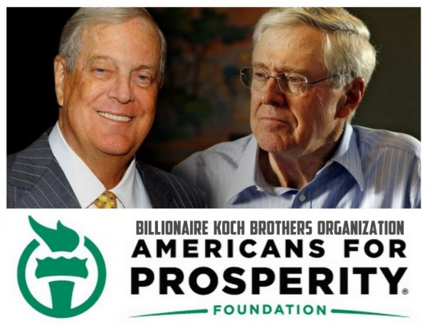 koch brothers Americans For Prosperity