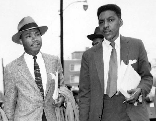 Martin Luther King and Bayard Rustin 1956
