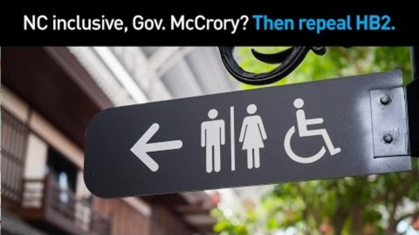 NC HB2 Discriination as a campaign strategy