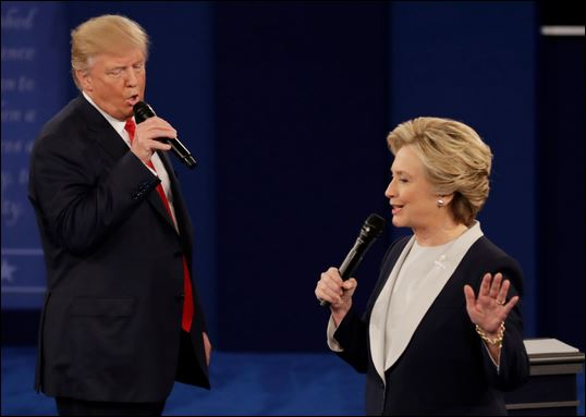 Hillary Clinton and Donald Trump Debate 2016